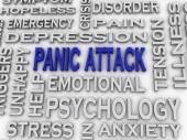 3d imagen Panic attack  issues concept word cloud background — Stock Photo