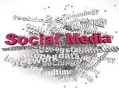 3d imagen Social Media concept word cloud background — Stock Photo