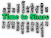 3d imagen Time to Share issues concept word cloud background — Stock Photo