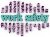 3d imagen Work safety  concept word cloud background — Foto Stock