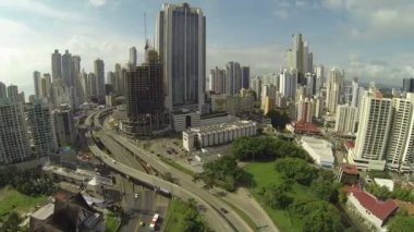 PANAMA CITY - NOV 5: Stunning view of Panama City in the daytime in Panama on Nov 5, 2014. Is main commercial area in all the country where are the main banks and government offices. — Stock Video
