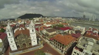 Aerial View of Casco Viejo, San Felipe, Panama — Stockvideo