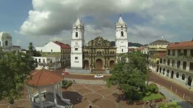 UNESCO World Heritage Site, Panama Cathedral, San Felipe, Panama City, Panama, Central America — Stock Video