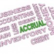 3d image Accrual issues concept word cloud background — Stock Photo #61621053