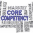 3d imagen Core Competency  issues concept word cloud background — Stock Photo #61623141