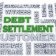 3d image Debt settlement issues concept word cloud background — Stock Photo #61623551
