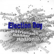 3d image Election Day issues concept word cloud background — Stock Photo #61623947