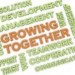 3d image Growing Together issues concept word cloud background — Stock Photo #61624343