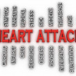 3d imagen heart attack issues concept word cloud background — Stock Photo #61624797