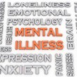 3d image Mental illness issues concept word cloud background — Stock Photo #61626079