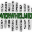 3d imagen Overwhelmed  issues concept word cloud background — Stock Photo #61626685