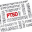 3d image PTSD - Posttraumatic Stress Disorder issues concept wor — Stock Photo #61626999