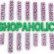 3d imagen Shopaholic  issues concept word cloud background — Stock Photo #61627533