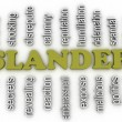 3d image Slander issues concept word cloud background — Stock Photo #61627705