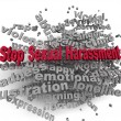 3d image Stop Sexual Harassment issues concept word cloud backg — Stock Photo #61627859