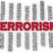 3d image Terrorism issues concept word cloud background — Stock Photo #61628109