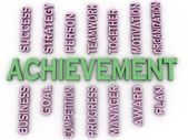 3d image achievement  issues concept word cloud background — Stock Photo