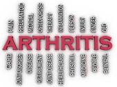 3d imagen Arthritis  issues concept word cloud background — Stock Photo