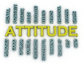 3d imagen Attitude  issues concept word cloud background — Stock Photo