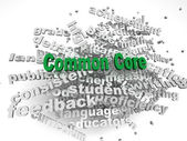 3d imagen Common Core  issues concept word cloud background — Stock Photo