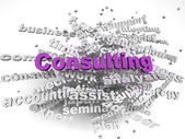 3d image Consulting issues concept word cloud background — Stock Photo