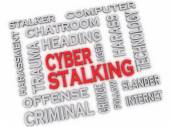 3d image CYBER STALKING issues concept word cloud background — Stock Photo