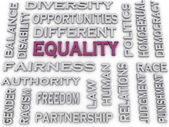 3d image Equality issues concept word cloud background — Stock Photo