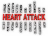 3d imagen heart attack   issues concept word cloud background — Stock Photo