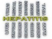 3d image Hepatitis  medical concept word cloud background — Stock Photo