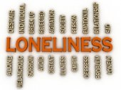 3d imagen Loneliness issues concept word cloud background — Stock Photo