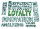 3d imagen Loyalty issues concept word cloud background — Stock Photo