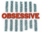 3d imagen Obsessive (OCD or Obsessive Compulsive Disorder)  issu — Stock Photo