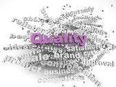 3d imagen Quality concept word cloud background — Stock Photo