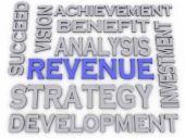 3d imagen Revenue  issues concept word cloud background — Stock Photo
