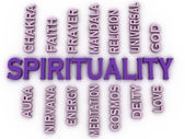 3d image Spirituality issues concept word cloud background — Stock Photo