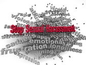 3d image Stop Sexual Harassment  issues concept word cloud backg — Stock Photo