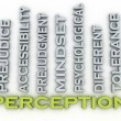 3d image Perception issues concept word cloud background — Stock Photo #64529913