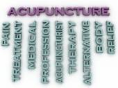 3d image Acupuncture issues concept word cloud background — Stock Photo