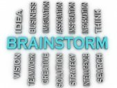 3d image Brainstorm issues concept word cloud background — Stock Photo