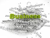 3d image Business issues concept word cloud background — Stock Photo