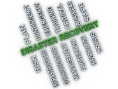 3d image Disaster recovery  issues concept word cloud background — Stock Photo