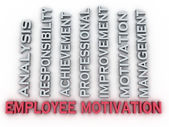 3d image employee motivation  issues concept word cloud backgrou — Stock Photo