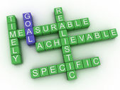 3d image Goal issues concept word cloud background — Stock Photo