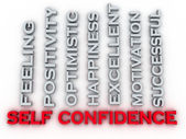 3d image self confidence issues concept word cloud background — Stock Photo