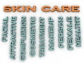 3d image Skin care issues concept word cloud background — Stock Photo