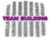 3d image team building  issues concept word cloud background — Stock Photo