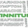 3d image Tinnitus  issues concept word cloud background — Stock Photo #67884213