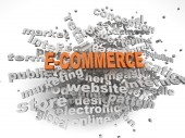 3d image E-COMMERCE  issues concept word cloud background — Stock Photo