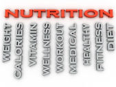 3d image nutrition  issues concept word cloud background — Stock Photo