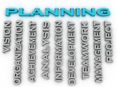 3d image Planning  issues concept word cloud background — Stock Photo